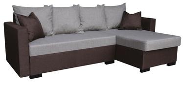 Угловой диван Platan Karol 03 Brown/Grey, 230 x 140 x 80 см