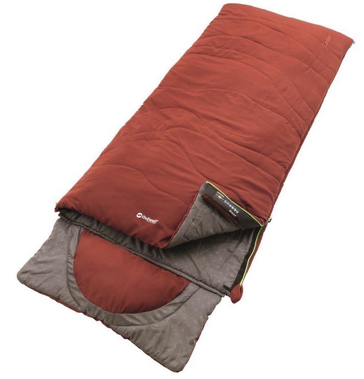 Magamiskott Outwell Contour Ochre Red 220 x 85cm
