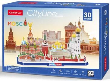 3D-pusle CubicFun City Line Moscow 3D, 204 tk