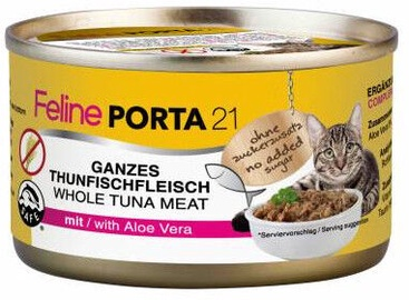Feline Porta 21 Cat Food Tuna With Aloe 156g