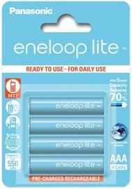 Panasonic Eneloop Lite Rechargeable Battery 4x AAA 550mAh