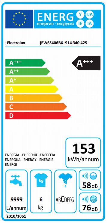 Pesumasin Electrolux EW6S406BX