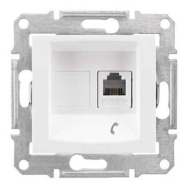 Schneider Electric Sedna 1xRJ11 SDN4101121 White