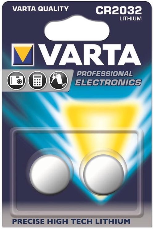Varta Profesional Electronics Lithium Tablet Battery 2x CR2032