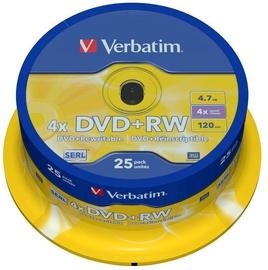 Verbatim DVD+RW 4.7GB 4x 25pcs