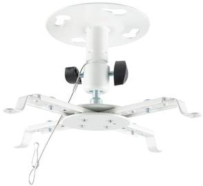 4World Projector Ceiling Bracket Tilt 12.5cm White
