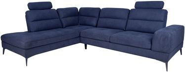 Угловой диван Home4you Maya 13992, синий, левый, 229 x 295 x 91 см