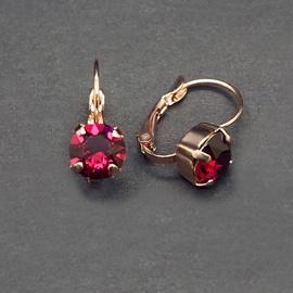Diamond Sky Earrings Glory Ruby With Swarovski Crystals