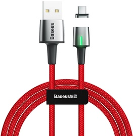 Baseus Zinc Magnetic USB To USB Type-C 2m Red