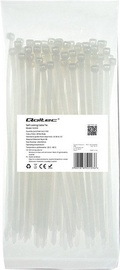 Qoltec Zippers Nylon UV 4.8x200mm 100pcs. White