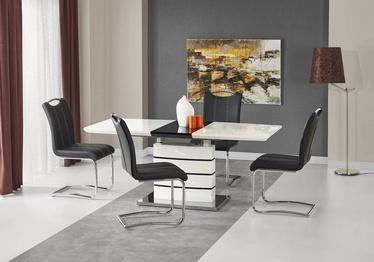 Söögilaud Halmar Nord Black/White, 1400 - 1800x800x760 mm