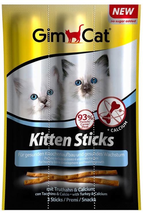 Gimborn GimCat Kitten Sticks Turkey & Calcium 3x3g