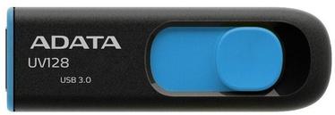 USB mälupulk ADATA UV128 Black/Blue, USB 3.0, 32 GB