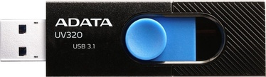 USB mälupulk ADATA UV320 Black, USB 3.1, 128 GB