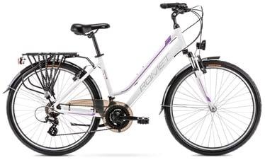 """Jalgratas Romet Gazela 1 White/Purple 2021, 19"""", 28"""""""