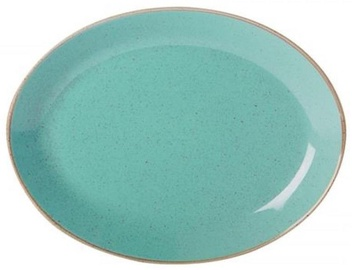 Porland Seasons Oval Plate 27.2x36cm Turquoise