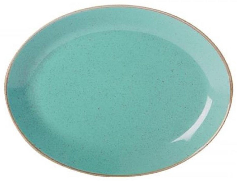 Porland Seasons Oval Plate 27.2x36cm Turquoise