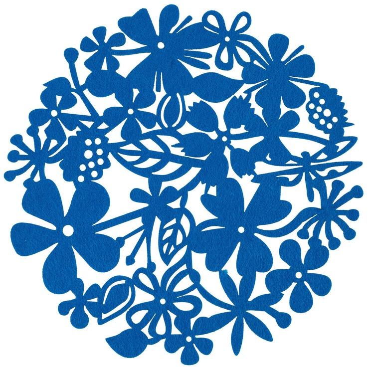 Home4you Table Mat Fenny D32cm Blue