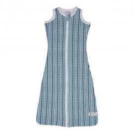 Lodger Hopper Stripe Sleeping Bag Dusty Turquoise 68/80