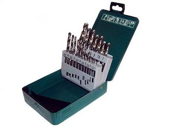 Grąžtai HSS Metal Drill Set 1-10mm 19pcs
