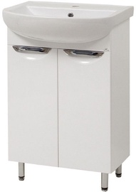 Vannitoakapp Sanservis Laura-55 Cabinet with Basin White 55x84.5x44cm