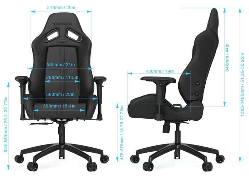 Vertagear SL5000 Racing Series Gaming Chair White/Black
