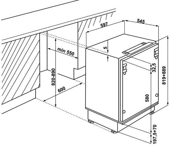 Integreeritav külmik Whirlpool ARG 590