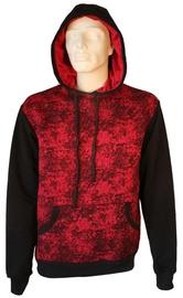 Bars Mens Hoodie Black/Red S
