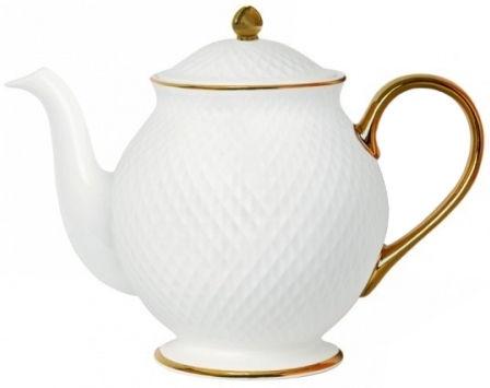 Quality Ceramic E Clat Gold Teapot 1l