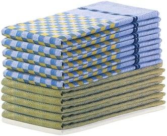 Köögirätik DecoKing Louie, sinine/kollane, 50x70 cm, 10 tk