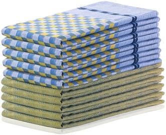 DecoKing Louie Kitchen Towels 50x70cm Yellow/Blue