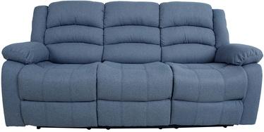 Диван Home4you Malina 13863, синий/серый, 90 x 207 x 101 см