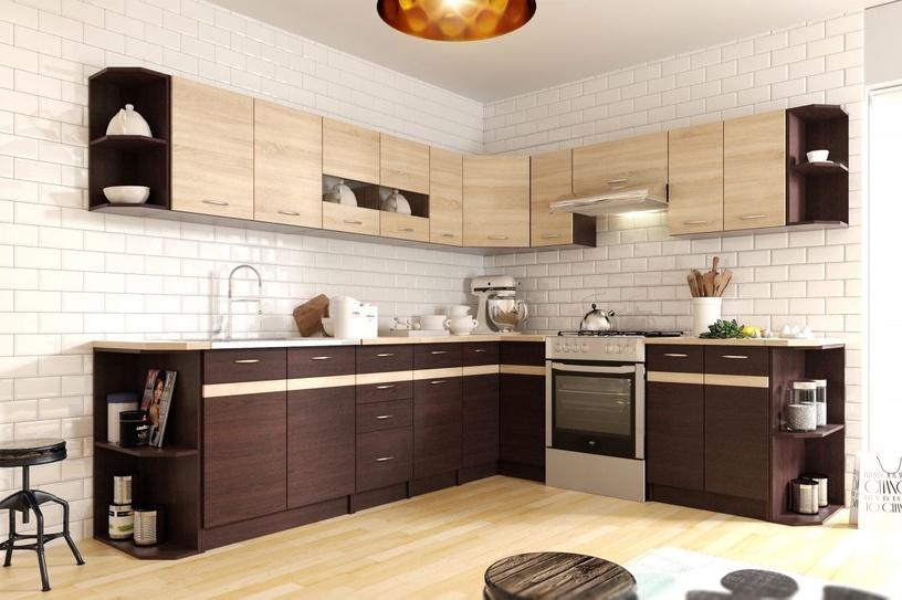 Нижний кухонный шкаф WIPMEB Livia LV-13/D40 S4 Dark Sonoma Oak, 400x445x820 мм