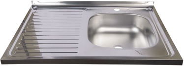Diana Kitchen Sink Right Chrome 800x600mm