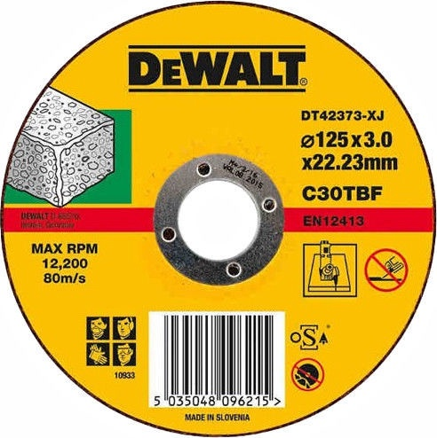 DeWALT DT42373-XJ Concrete/Stone Cutting Disc 125mm