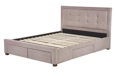 Кровать Halmar Evora Beige, 215x164 см, с решеткой