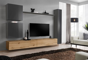 ASM Switch VIII Wall Unit Graphite/Wotan Oak