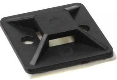 Ohne Hersteller Mounting Base for Cable Ties 4.5mm x 10 Black