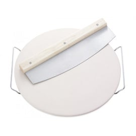 Leifheit Pizza Stone w/ Knife 33cm White