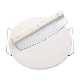 Leifheit Pizza Stone w/ Knife 33cm White