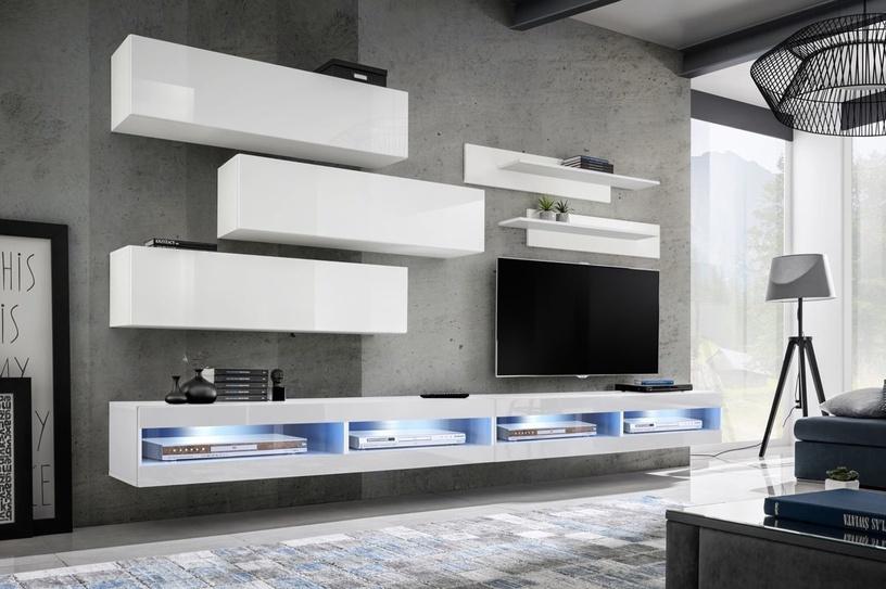ASM Fly V Living Room Wall Unit Set White WW FY V1