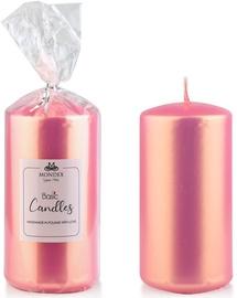 Mondex Classic Candle Metallic Pink 14cm