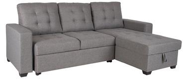 Угловой диван Home4you Taylor Grey, 233 x 160 x 91 см