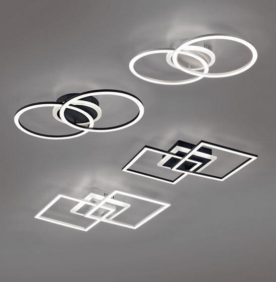 Потолочный светодиодный светильник Trio Venida черного цвета, 25 Вт, 2600 лм, 3000 К