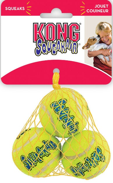 Kong Air Kong Squeaker Tennis Ball Extra Small 3pcs