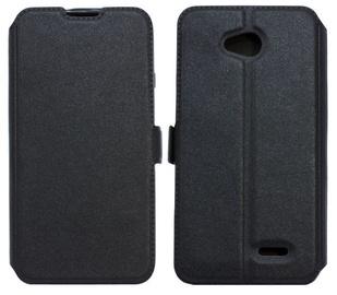Telone Shine Book Case For LG K7 X210 Black