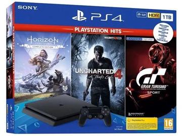 Sony Playstation 4 Slim 1 Tb +hits games (GT Sport, Horizon Zero Dawn, Unchanged 4)