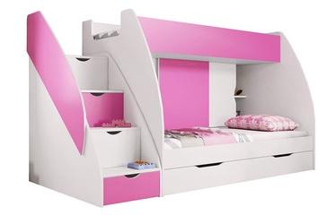 Narivoodi Idzczak Meble Marcinek White/Pink, 255x125 cm