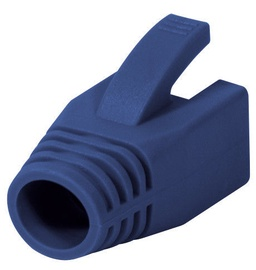 LogiLink Strain Relief Boot 8.0mm For Cat.6 RJ45 Plugs Blue x 50