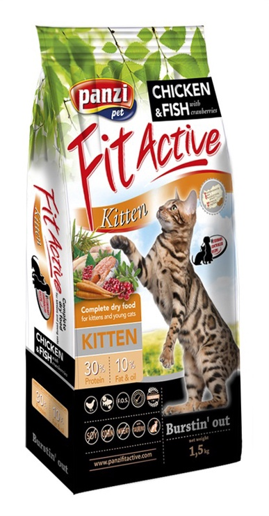 Kassitoit Fit Active kitten 1,5 kg